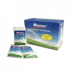 3-1 Lipid Panel Test for use with Mission Cholesterol Meter (5 tests)