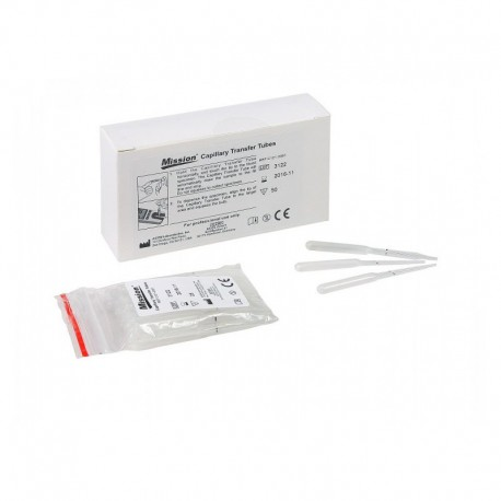 Mission 3-in-1 Blood Transfer Capillaries Transfer tubes 35µl (x50)